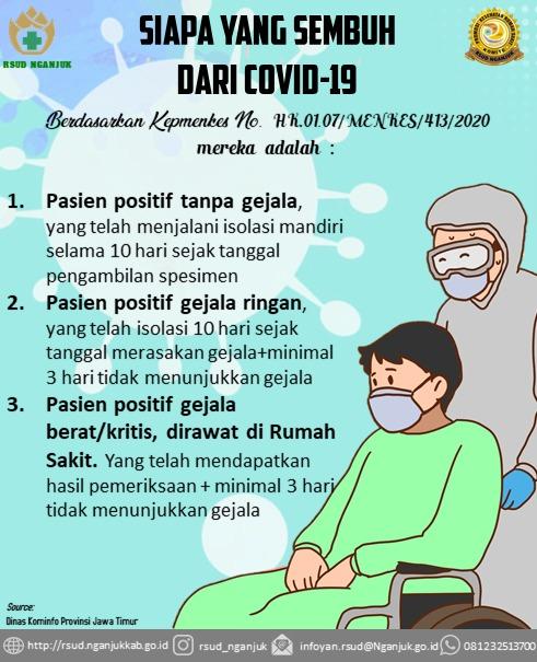 Pasien Covid-19 dinyatakan Sembuh